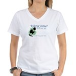 Kitty Corner Women's V-Neck T-Shirt