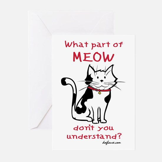 Meow Greeting Cards (Pk of 10)