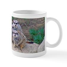 4 Meerkats Peering Mug