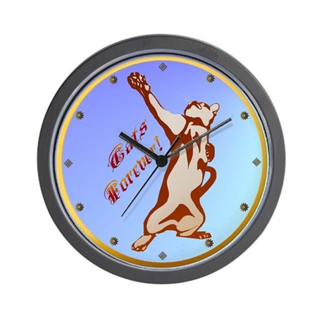 Cats Are Forever! Wall Clock