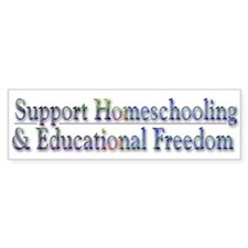 Support Homeschooling ~ Bumper Sticker