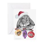 Bunny Santa Christmas Greeting Cards (Pk of 20)