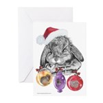 Bunny Santa Christmas Greeting Cards (Pk of 10)