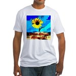 God Bless Illinois! Fitted T-Shirt