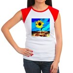 God Bless Illinois! Women's Cap Sleeve T-Shirt