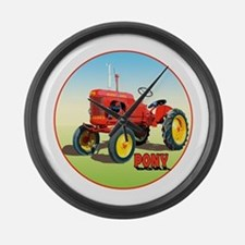 Funny Ferguson tractor Large Wall Clock