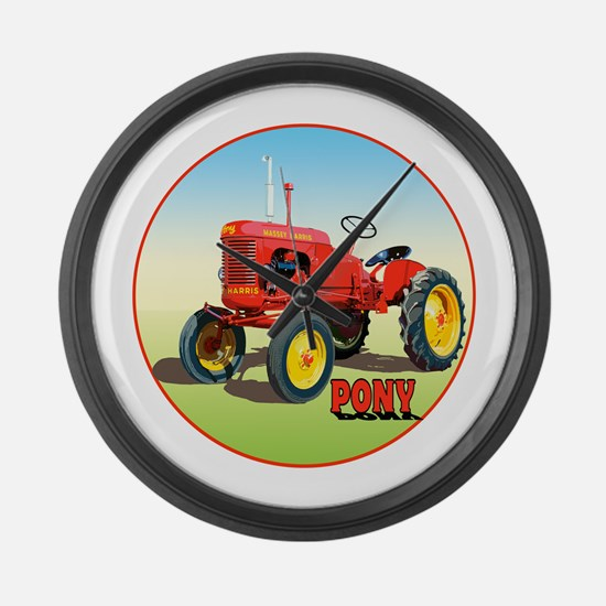 Cool Tractor pulling Large Wall Clock