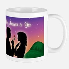 The Answer is Yes Coffee Mug