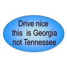 Georgia not TN Oval Decal