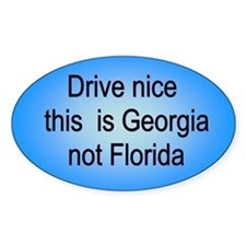 Georgia not Fl Oval Decal