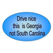 Georgia not SC Oval Decal