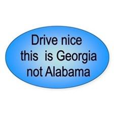 Georgia not AL Oval Decal
