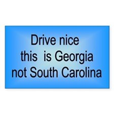 Georgia not SC Rectangle Decal
