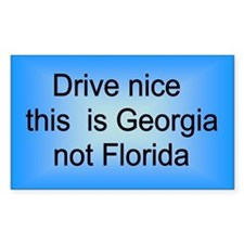 Georgia not Fla Rectangle Decal