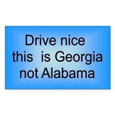 Georgia not Ala Rectangle Decal