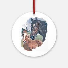 mare and colt portrait Ornament (Round)