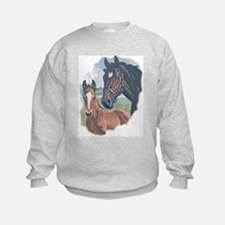 mare and colt portrait Sweatshirt