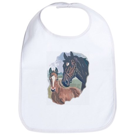 mare and colt portrait Bib