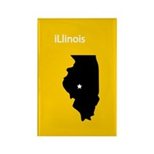 iLlinois Rectangle Magnet