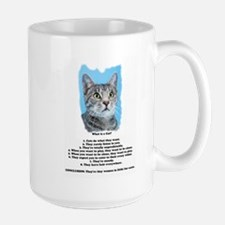 What Is a Cat? Large Mug