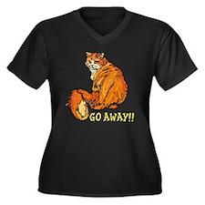 mad cat Women's Plus Size V-Neck Dark T-Shirt