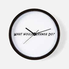 What would Miranda do? Wall Clock