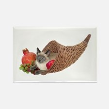 Cat in Cornucopia Rectangle Magnet