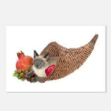 Cat in Cornucopia Postcards (Package of 8)