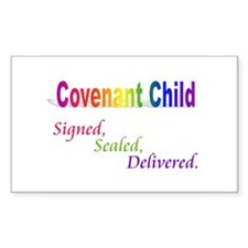 Covenant Child Rectangle Decal