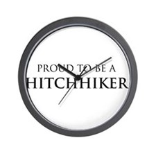 Proud Hitchhiker Wall Clock