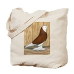 WOE Red Bald Tote Bag