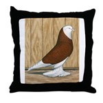 WOE Red Bald Throw Pillow