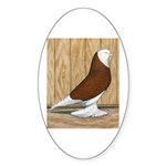 WOE Red Bald Oval Sticker (10 pk)