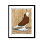 WOE Red Bald Framed Panel Print