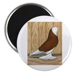 "WOE Red Bald 2.25"" Magnet (100 pack)"