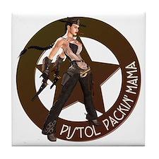 Pistol Packin' Mama Tile Coaster