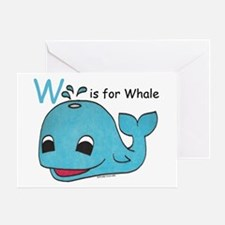 W is for Whale Greeting Card