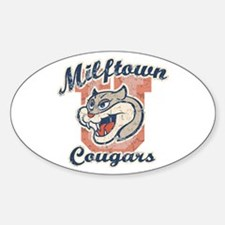 Milftown Cougars Oval Decal