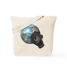 Gas Mask Earth Tote Bag