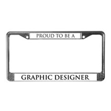 Proud Graphic Designer License Plate Frame