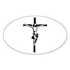 Jesus - Crucifix Oval Decal