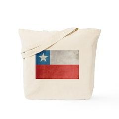 Vintage Chile Flag Tote Bag