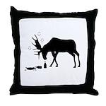Throw Pillow Drunk Moose White