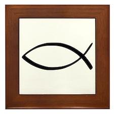 Jesus Fish Framed Tile