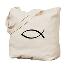 Jesus Fish Tote Bag