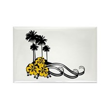 Hibiscus & Palms Rectangle Magnet