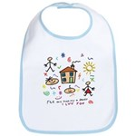 4 my mommy and daddy Bib