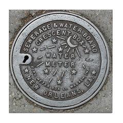 Water Meter Lid Tile Coaster