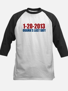 1-20-2013 Obama Last Day Kids Baseball Jersey