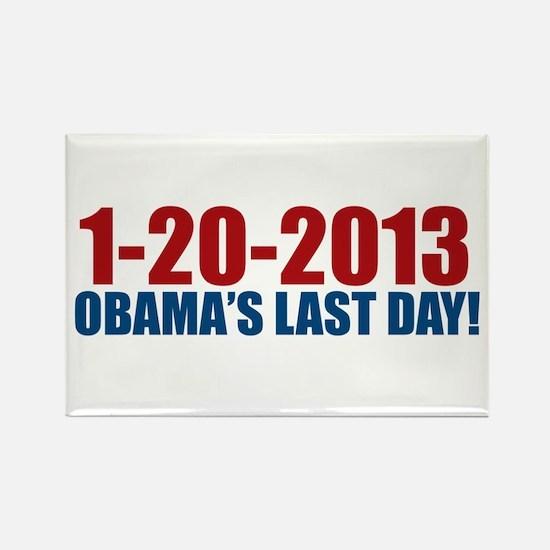 1-20-2013 Obama Last Day Rectangle Magnet